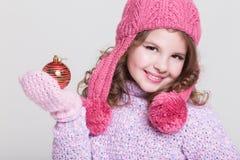Accessori felici di inverno del bambino Fotografie Stock Libere da Diritti