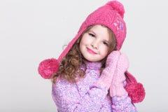 Accessori felici di inverno del bambino Immagini Stock Libere da Diritti