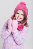 Accessori felici di inverno del bambino Immagine Stock