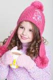 Accessori felici di inverno del bambino Fotografia Stock