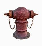 Accessori per tubi nel rosso Fotografia Stock