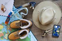 Accessori stati necessari per viaggiare Fotografia Stock