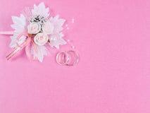 Accessorie de mariages une boutonnière images libres de droits