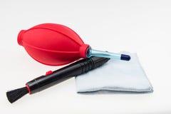 Accessorie del limpiador de la lente Imagen de archivo