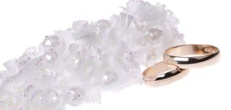 Accessorie y anillos de las bodas Imágenes de archivo libres de regalías