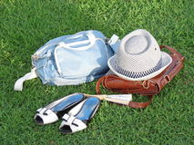 Accessories. Hat, bag, and shoe is accessories Stock Images