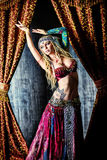 Accessories actress. Beautiful traditional female dancer. Ethnic dance. Belly dancing. Tribal dancing royalty free stock image