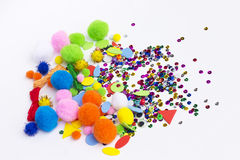 Accessories for art and craft Stock Photo