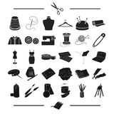 Accessories, atelier, repair and other web icon in black style. tools, technique, textiles, icons in set collection. Accessories, atelier, repair and other Royalty Free Stock Photography