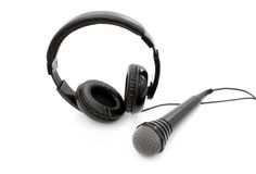 Accessories for audio recording Royalty Free Stock Photos