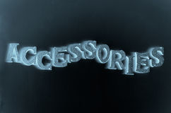 Accessories background Royalty Free Stock Images