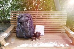 Accessories, Backpack, Bench Stock Photos