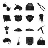 Accessories, bag, mine and other web icon   Royalty Free Stock Photos