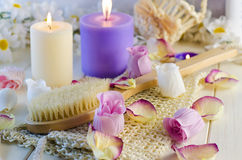 Accessories for bath and spa Stock Image