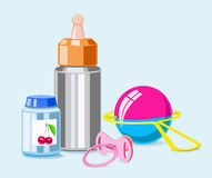 Accessories for breastfeeding. Stock Photography