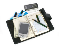 Accessories of the businessman. Business tools for happy connection Stock Image