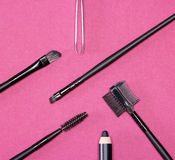 Accessories for care of the eyebrows Stock Photography