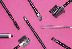 Accessories for care of the eyebrows Royalty Free Stock Photo