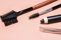 Accessories for care of the eyebrows Stock Images