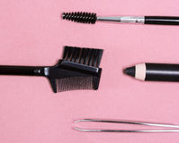 Accessories for care of the eyebrows Stock Image