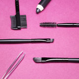 Accessories for care of the eyebrows Royalty Free Stock Image