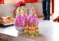 Accessories in ceremony ordained. Necessary for the monk of Buddhist stock photo