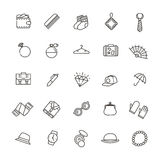 Accessories concept illustration, line flat design Royalty Free Stock Images