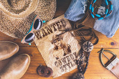 Accessories cowboy retro style Royalty Free Stock Photo