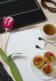 Accessories on a desktop for the girl Stock Image