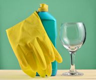 Accessories for dishwashing and house cleaning. Dishwashing.  B Royalty Free Stock Photo