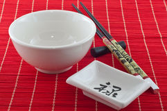 Accessories for eating sushi 5 Royalty Free Stock Images