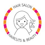 Woman On Banner, Hair Salon, Haircuts And Shaves vector illustration