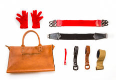 Accessories for everyday life on white background. Stock Photos