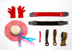 Accessories for everyday life on white background. Royalty Free Stock Photography
