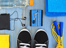 Accessories for fitness classes. Sports concept. Accessories for fitness classes stock images