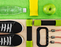 Accessories for fitness classes. Sports concept royalty free stock image