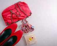 Free Accessories For Woman, Top View Royalty Free Stock Photo - 79230525