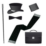 Accessories for the gentleman. Accessories for the business gentleman Stock Images