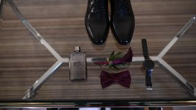 Accessories groom morning, butterfly, shoes, watches