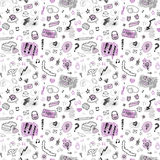 Accessories. Hand drawn seamless pattern. Stock Photo