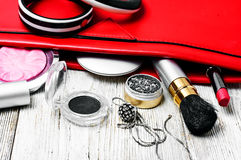 Accessories and handbags items Stock Image