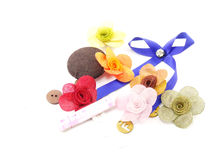Accessories about handmade. Collection accessories item about handmade Stock Images