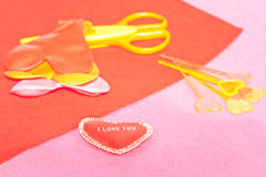 Accessories for handmade presents Stock Photo