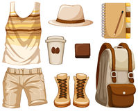 Accessories for hipster boy Stock Image