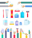 Accessories and Hygiene Items Design Flat Royalty Free Stock Photos