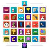 Accessories, hygiene, textiles and other web icon in flat style.head, animal, achievements, icons in set collection. Royalty Free Stock Photo