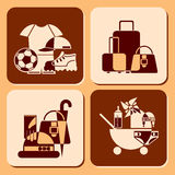 Accessories icons Royalty Free Stock Images