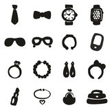 Accessories Icons Freehand Fill Stock Photo
