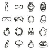 Accessories Icons Freehand Royalty Free Stock Images
