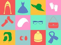 The accessories  icons Stock Images